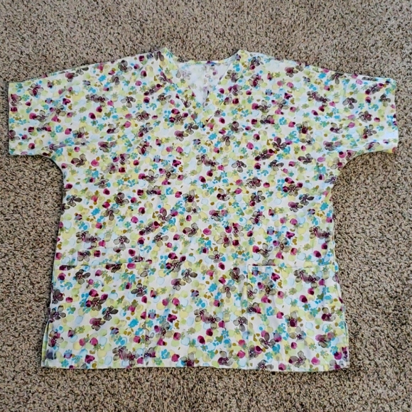 Women's scrub tops x 3